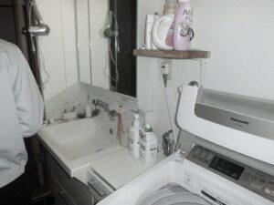洗面室工事前